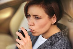 How do I take a breath alcohol test?