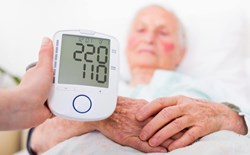 What can cause high blood pressure in a pre-medical evaluation?