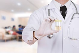 What materials are used during DOT drug testing to send urine specimens to the laboratory?